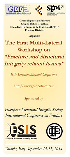 "Workshop - The First Multi-Lateral Workshop on ""Fracture and Structural Integrity related Issues"" – ICF Interquadriennial Conference"