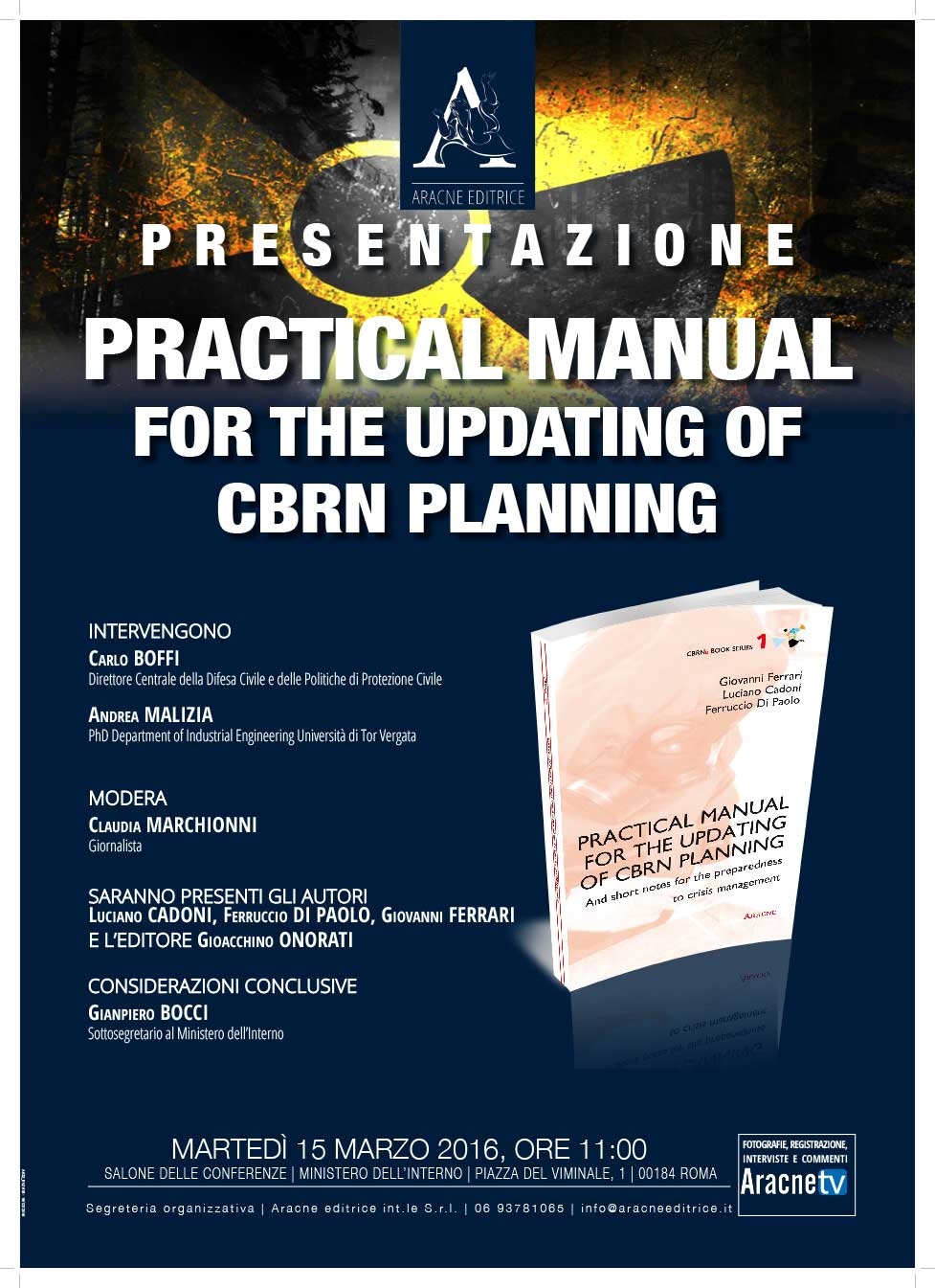 Presentazione - Practical manual for the updating of CBRN planning