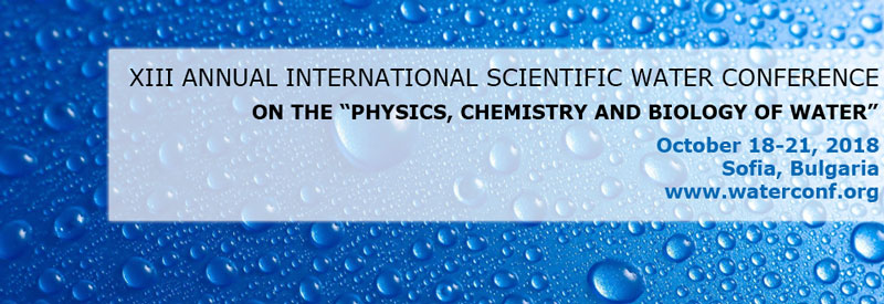 "Convegno - XXII Annual International Scientific Water Conference<br>""Physics, Chemistry and Biology of Water"""